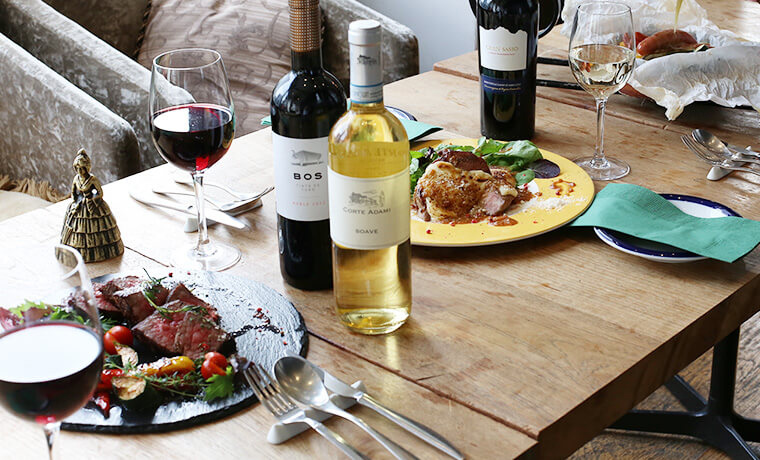ワインとお肉のマリアージュ